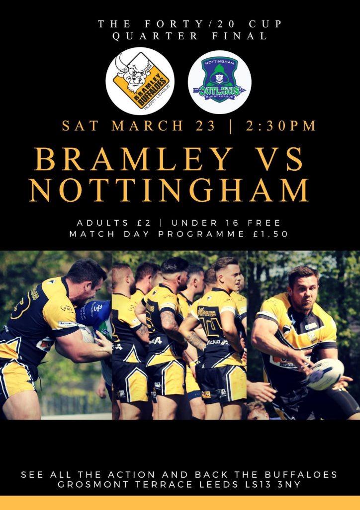 Bramley Buffaloes Vs Nottingham Outlaws